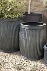 Set Of Two Metal Planters