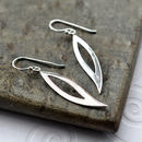 Silver Abstract Leaf Earrings