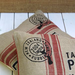 Hessian Printed Quote Cushion Cover - cushions