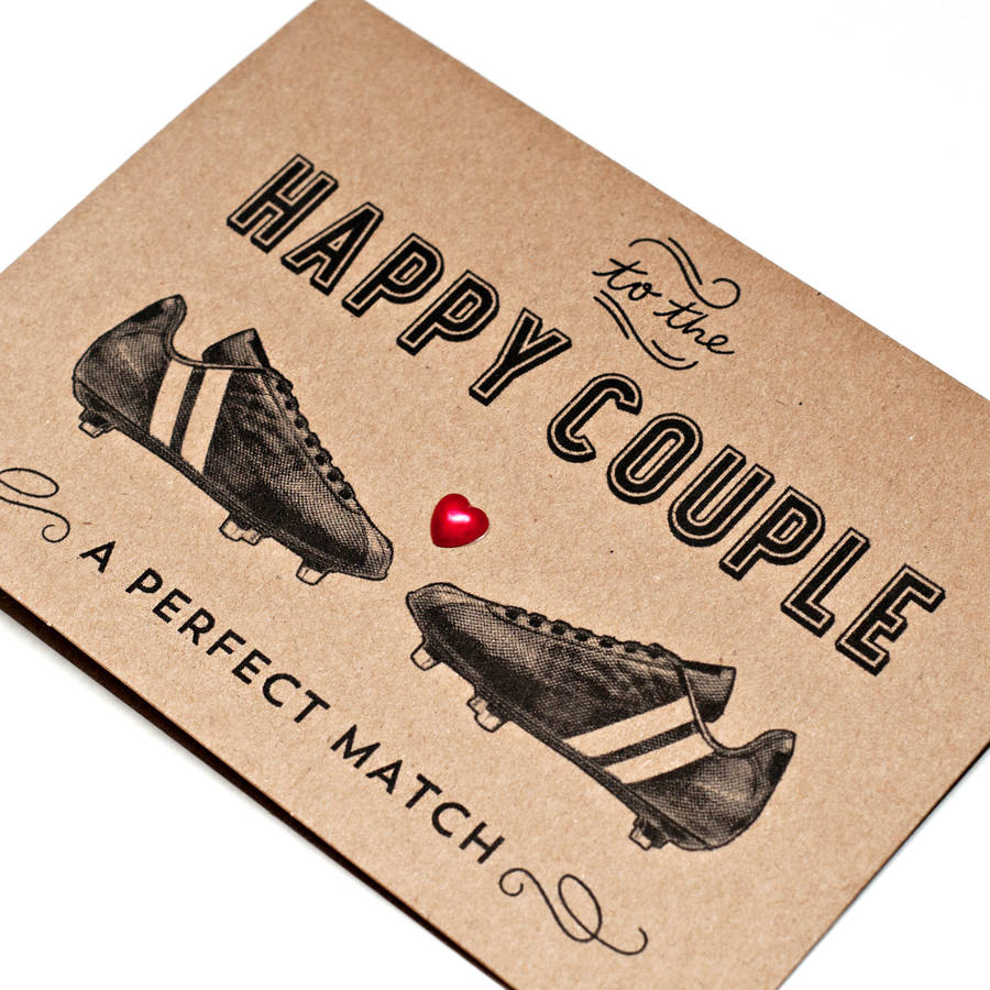 Football themed wedding card by papergravy notonthehighstreet football themed wedding card junglespirit Images