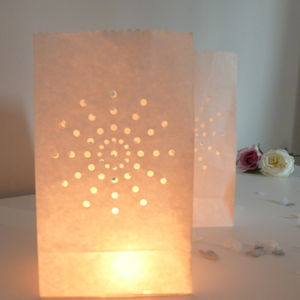 Set Of Ten Star Paper Lanterns - lighting