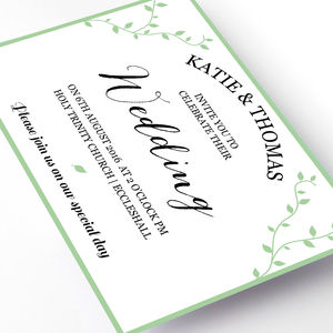 Trailing Vine Wedding Invitation