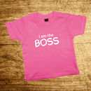 Father And Child Red Or Pink Boss T Shirt Set