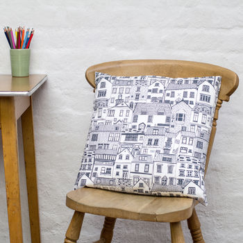Coastal Cottages Cushion Cover