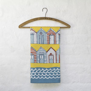 Beach Huts Tea Towel - kitchen accessories