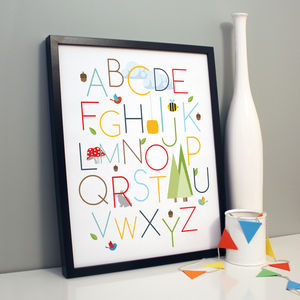 'Woodlands Abc' Print - pictures & prints for children