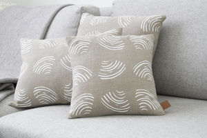 Clams Linen Cushion - cushions