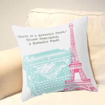 Hemingway Paris Cushion Cover