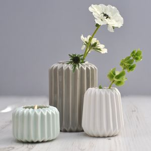 Ori Folded Ceramic Vase - decorative accessories