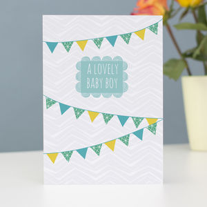 Baby Boy Greetings Card - new baby & christening cards