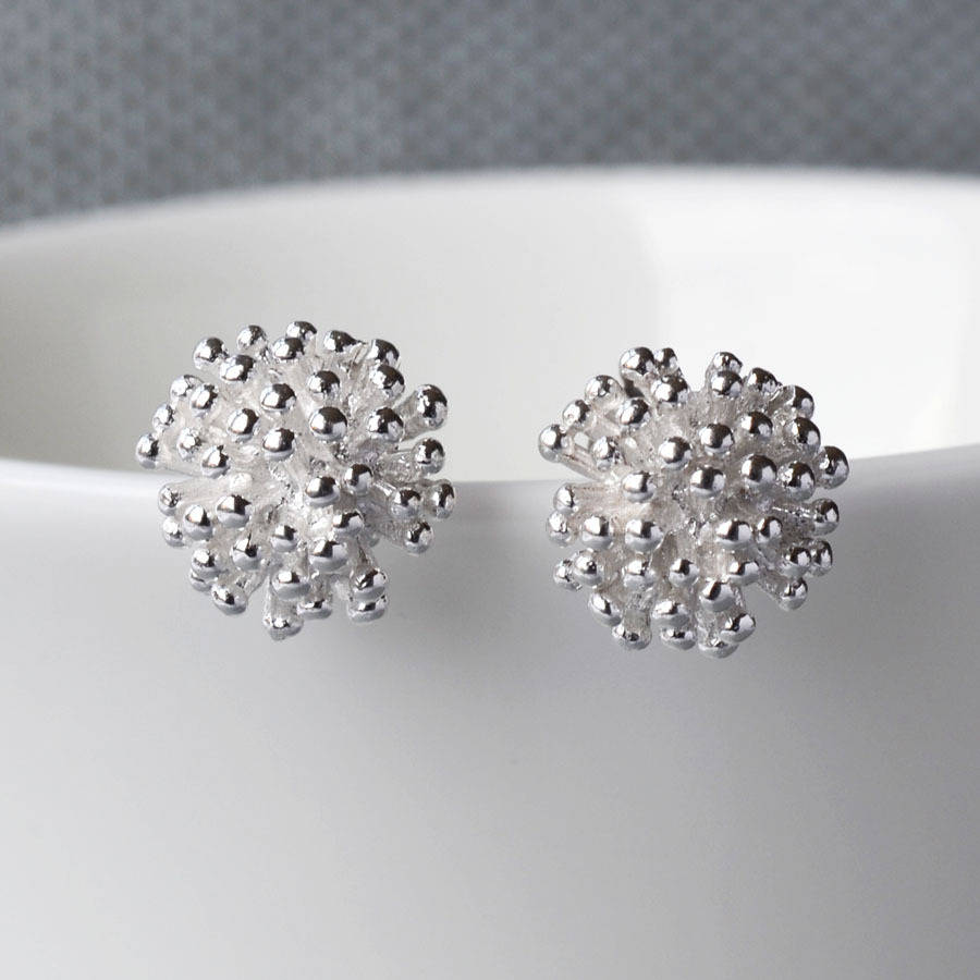 fb4ef5e94 silver cluster stud earrings by martha jackson sterling silver ...
