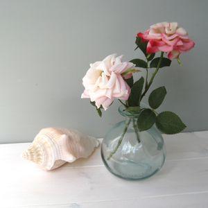 Scented Silk Roses In Globe Bottle