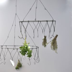 Herb Drying Rack Chandelier - pots & planters