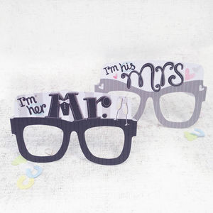 Mr And Mrs Wedding Card Glasses - wedding cards & wrap