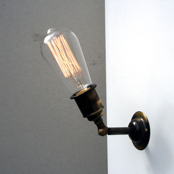 Industrial Style Glass Wall Lights : vintage style industrial wall and ceiling light by unique s co. notonthehighstreet.com