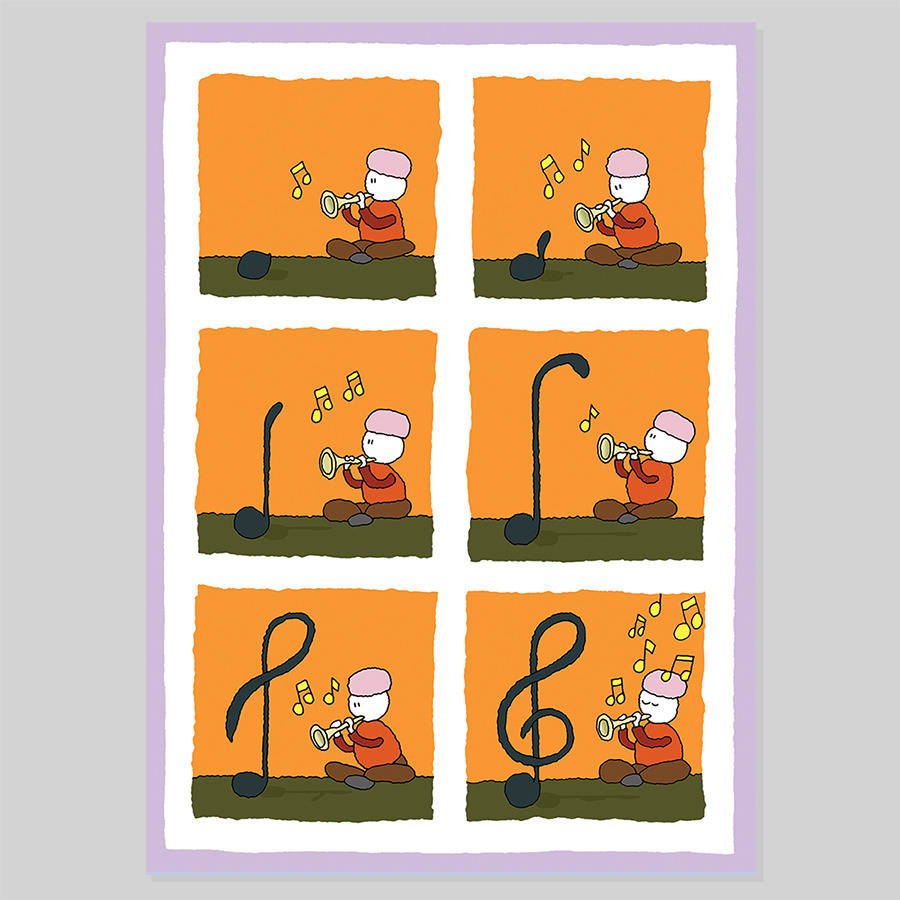Music lovers greeting card by cat rabbit graphics music lovers greeting card m4hsunfo