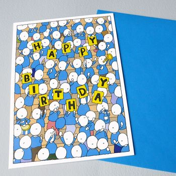 Birthday Crowd Greeting Card