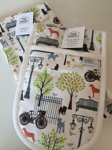 Days In The Park Tea Towel