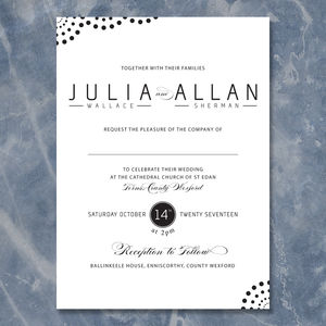 Classic Twist Wedding Invitation