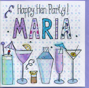 Personalised Hen Party Card - hen party styling
