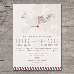 Destination Europe Wedding Invitation