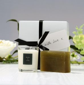 Pamper Gift Box - candles & candlesticks