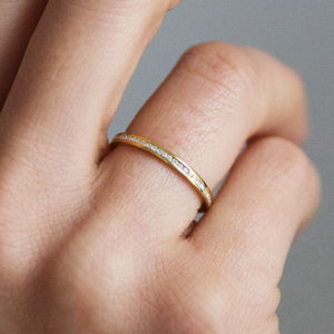 Fairtrade Eternity Half Diamond Promise Ring