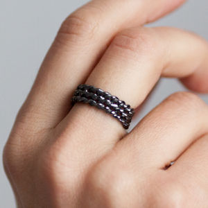 Black Lace Triple Ring