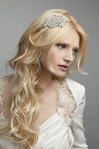 Linnet Crystal Embellished Headband - wedding fashion