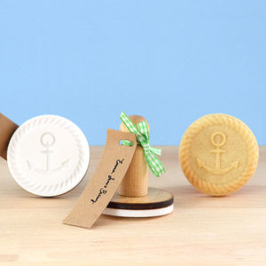 Vintage Style Anchor Button Cookie Stamp