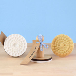 Vintage Style Pearly Button Cookie Stamp - cookie cutters