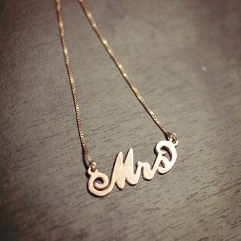 'Mrs' Necklace