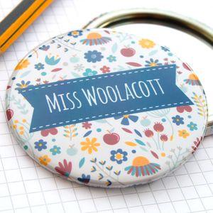 Thank You Teacher Pocket Mirror - gifts for teachers
