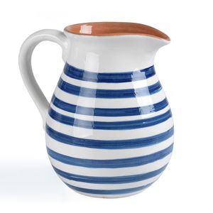 Blue Tile Stripe Pitcher