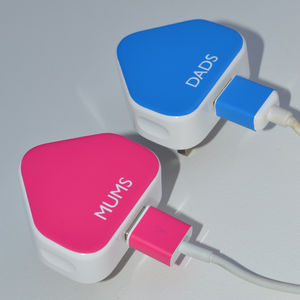 Personalised Sticker For iPhone iPad iPod Charger - gifts by budget