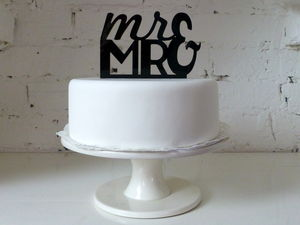 'Mr And Mr' Large Cake Topper - cake toppers & decorations