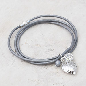 Cece Personalised Silver Heart Bracelet - gifts for her