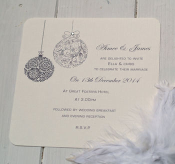 'Christmas Themed' Wedding Invitations
