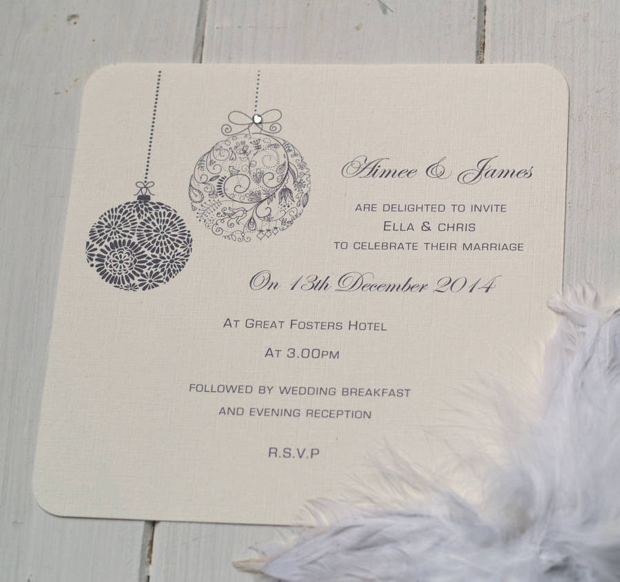 Christmas Themed Wedding Invitations