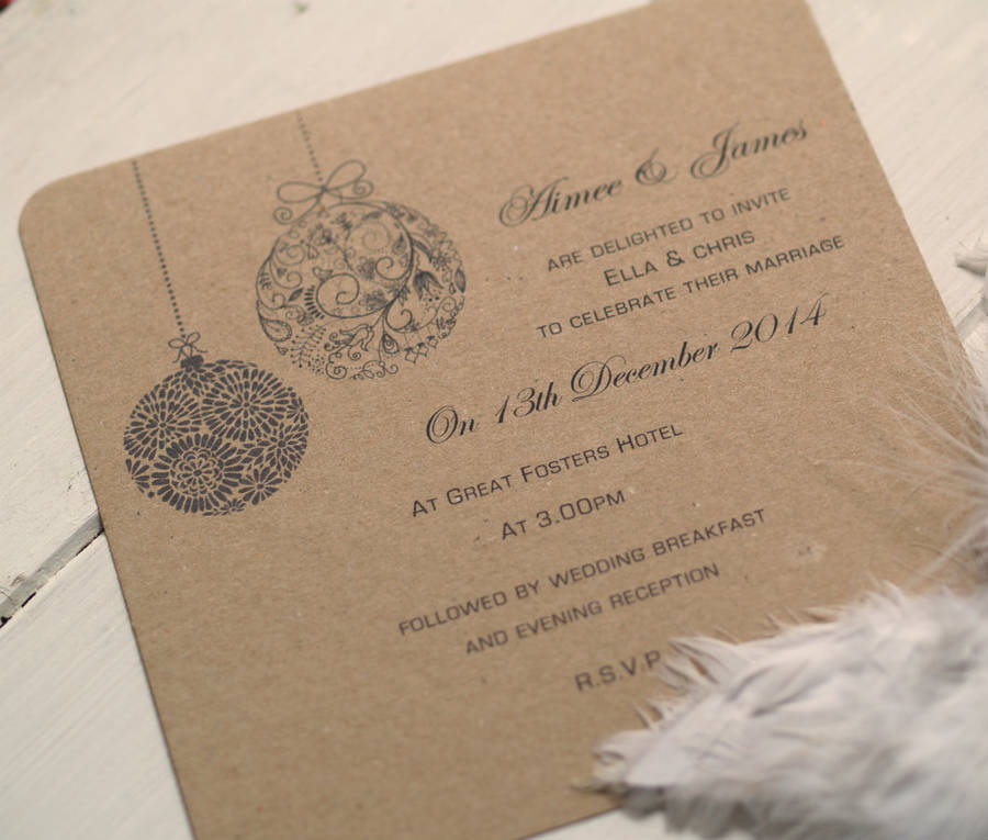 Wedding Invitations Christmas Theme Wedding Invitation Ideas – Wedding Invitations Christmas Theme