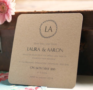 'Garland' Personalised Wedding Invitations - parties