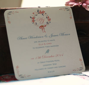 'Vintage Wreath' Wedding Invitations