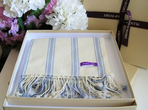 100% Cashmere Ticking Stripe Baby Blanket - blankets, comforters & throws