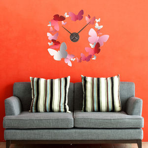 Butterfly Clock Wall Sticker