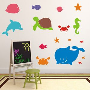 Sea Creatures Wall Stickers - baby's room