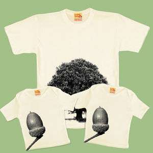 Dad And Baby Trio Oak Tree / Acorn - t-shirts & vests