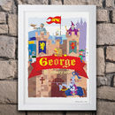 Knight's Castle Personalised Print Or Canvas