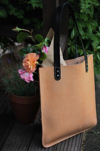 Handmade Leather Everyday Tote - bags & purses