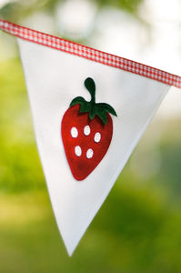 Strawberry Personalised Bunting - bunting & garlands