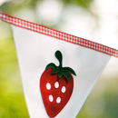 Strawberry Personalised Bunting